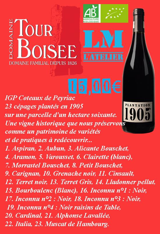 vin rouge Domaine Tour Boisée